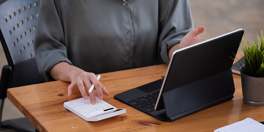 bigstock-Close-Up-View-Of-Bookkeeper-Or-413961344